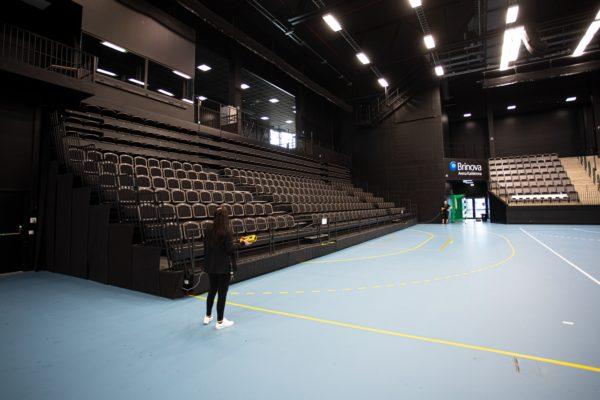 Utskjutbar läktare på Brinova Arena Karlskrona