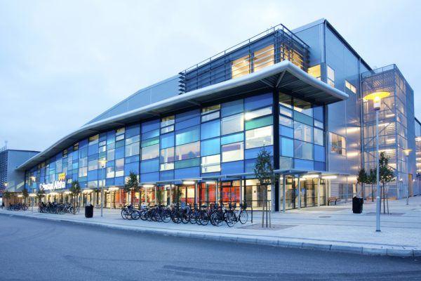 Alfing har levererat läktare till Halmstad Arena